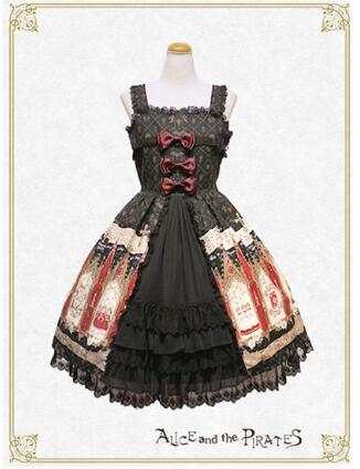 2016 New Arrival Lovely And Sweet Lolita Dress cospaly costume court Style lace edge Bretelle Beautiful Gothic Lolita dress gothic and lolita