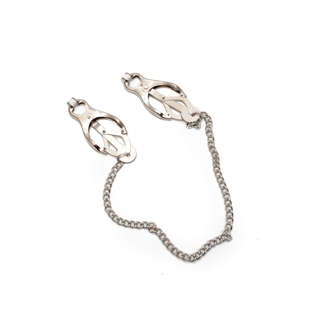 hot sale Women Metal Nipple Clamps Clips Nipples Bondage Fetish Toys For Couples In Adult Games free shipping