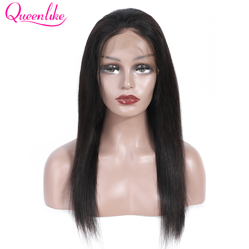 13x5 Lace Frontal Human Hair Wigs Pre Plucked With Baby Hair For Black Women Queenlike Remy Brazilian Straight Lace Frontal Wig