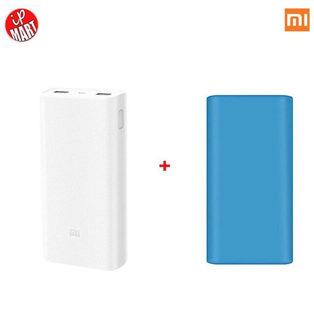 Оригинал Xiaomi Power Bank 2 20000 мАч Moblie Портативный 20000 Внешний Аккумулятор Зарядное Устройство 20000 мАч Dual USB Для iPhone7 Xiaomi