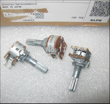 BELLA Original Japanese ALPS 16 type double volume potentiometer A50K A100K 25MM rachis 10PCS LOT