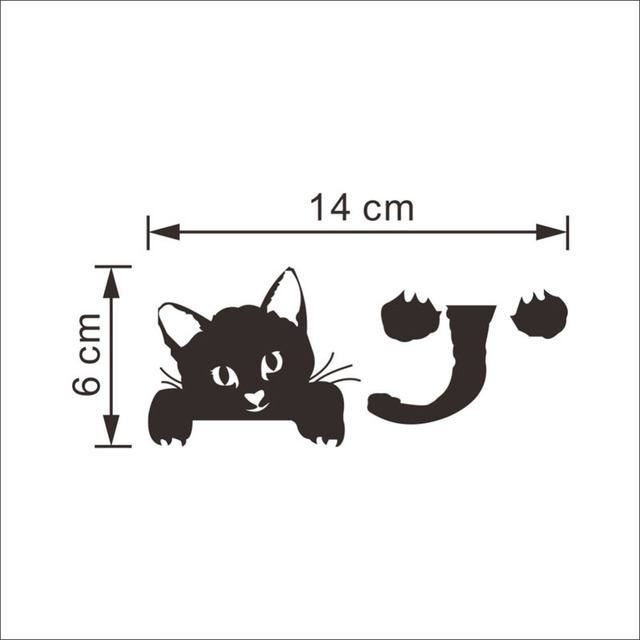 Funny Cute Cat Switch Stickers