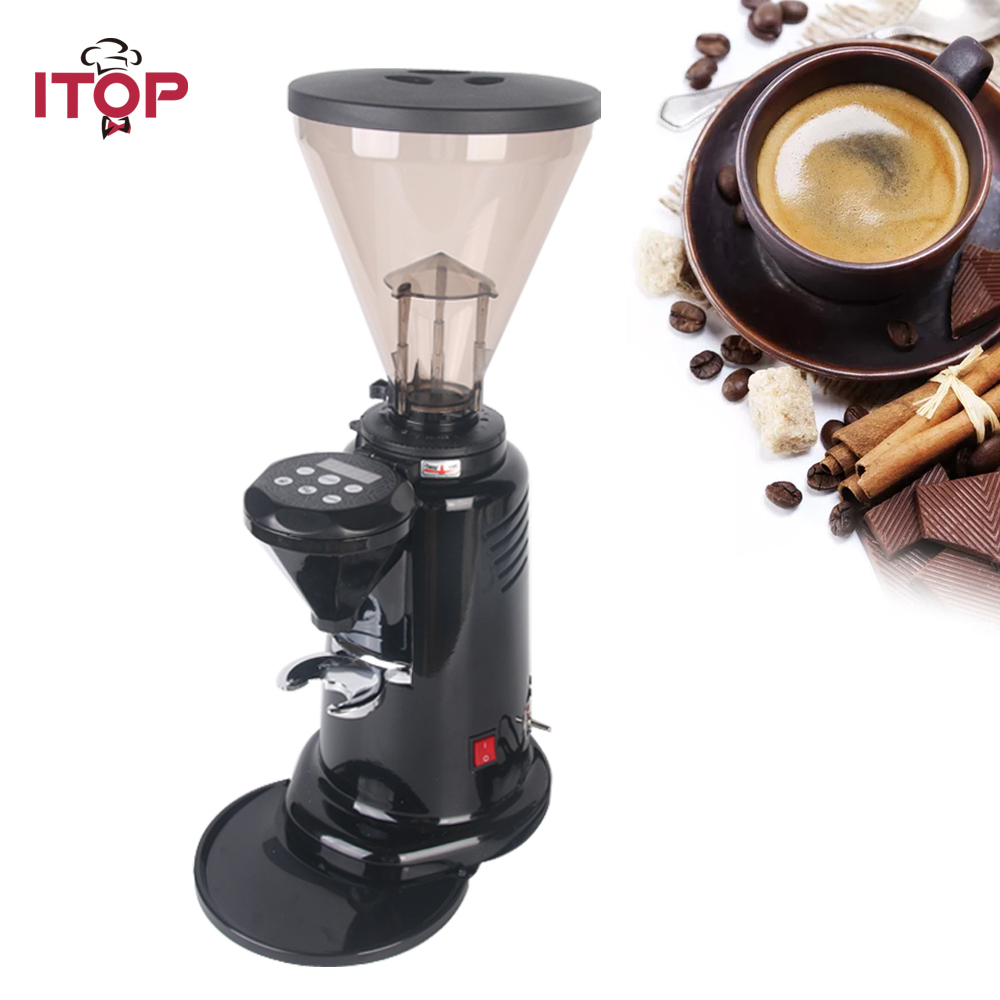 Coffee Bean Grinder 350W Powder Milling Machine Commercial Type Professional Maker 6-9Kg/hour xeoleo professional coffee grinder commercial coffee powder milling machine electric coffee bean grinding machine coffee maker