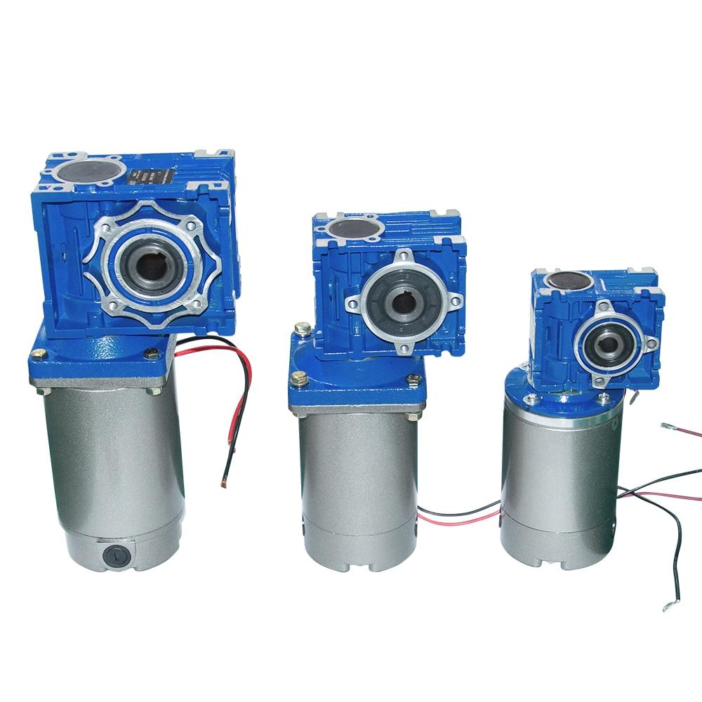 Grande DC Worm Gear Motor 12/24/90/220V 120/250W 22/30 /36/45/60/90/180/240Rpm DC Motor de Imã Permanente Com RV030/ caixa de velocidades 040