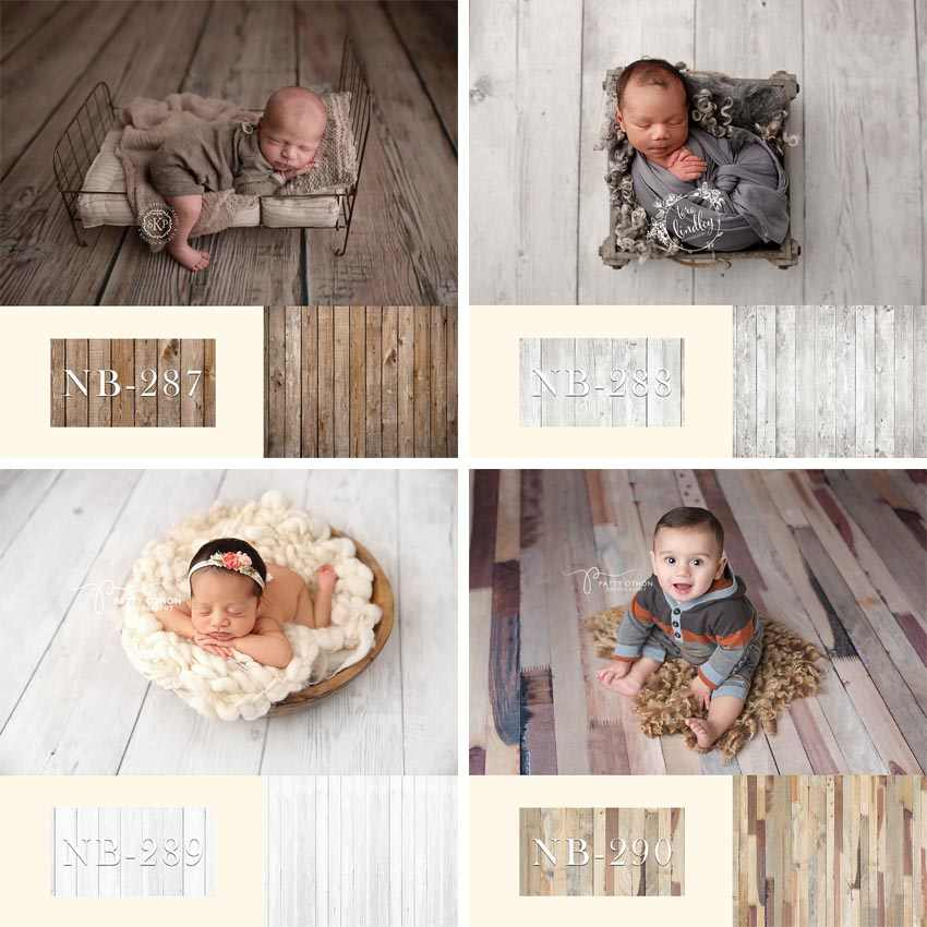 Photography Backdrop Newborn Baby Shower Birthday Party Wood Floor Children Photo Background Decor Photocall Photo Studio Banner