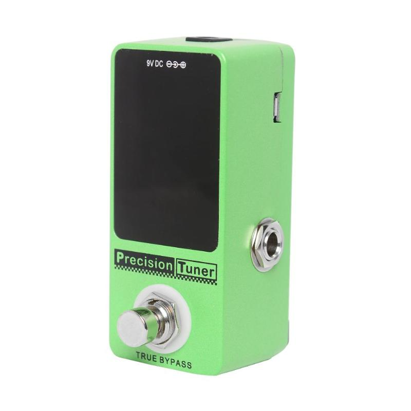 Guitar Pedal Tuner Mini Chromatic Guitar Tuner Pedal Effect True Bypass LCD Display Guitar Parts & Accessories loop effect pedal 3 way looper switcher guitar effect pedal true bypass electric guitar parts accessories