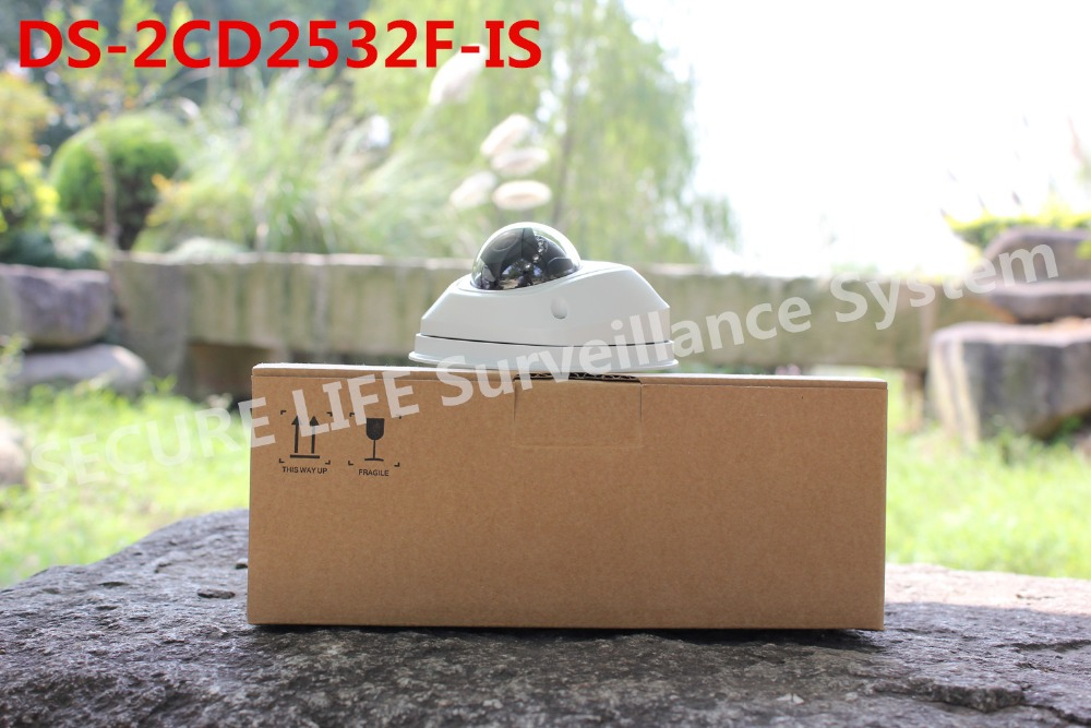 DS-2CD2532F-IS Multi-language Full HD1080p two -way audio DWDR IR Network mini POE IP security cctv dome Camera
