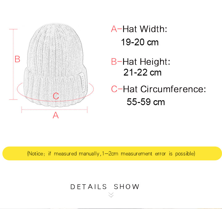 HTB1zSOrXVT7gK0jSZFpq6yTkpXab - FURTALK Winter Hat for Women Beanie Hat with Fleece Lining Men Lady Knitted Winter Cap for Female Girl Red Black White Pink Grey
