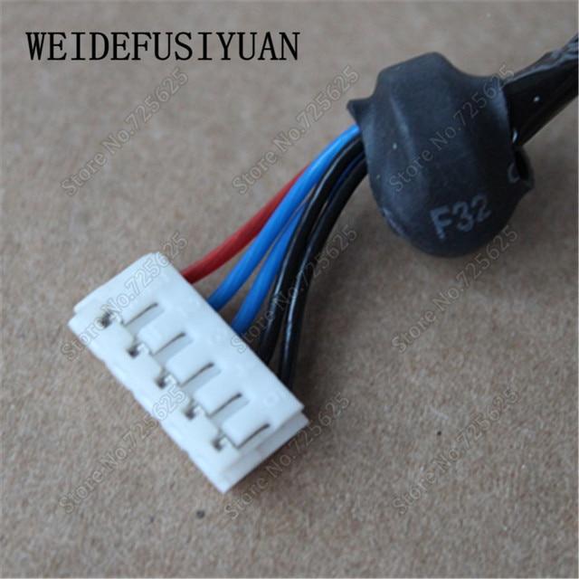 AC DC gniazdo zasilania wtyczka w port ładowania złącze wtykowe w/kabel wiązki przewodów dla IBM Lenovo N100 N200 C200 3000