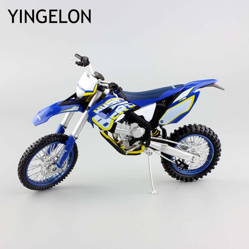 Enduro Motocross New 1/18 Scale Mini Husqvarna FC450 Motorcycle Racing Diecast Model Toys Replica Metal For B MW Children Gifts