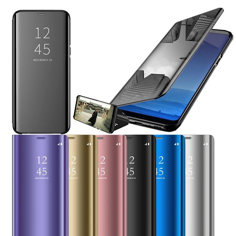 Mirror View Smart Case For Samsung Galaxy J4 J6 J8 A6 A7 A8 A9 2018 S7 Edge S8 S9 S10 Plus S10e A5 J3 J5 J7 2017 J2 Core Funda