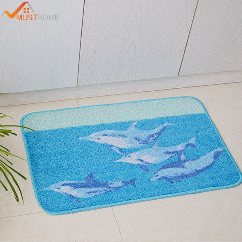 45cmx70cm blauw Cartoon dolfijn badmatten voor badkamer moderne - Huishouden