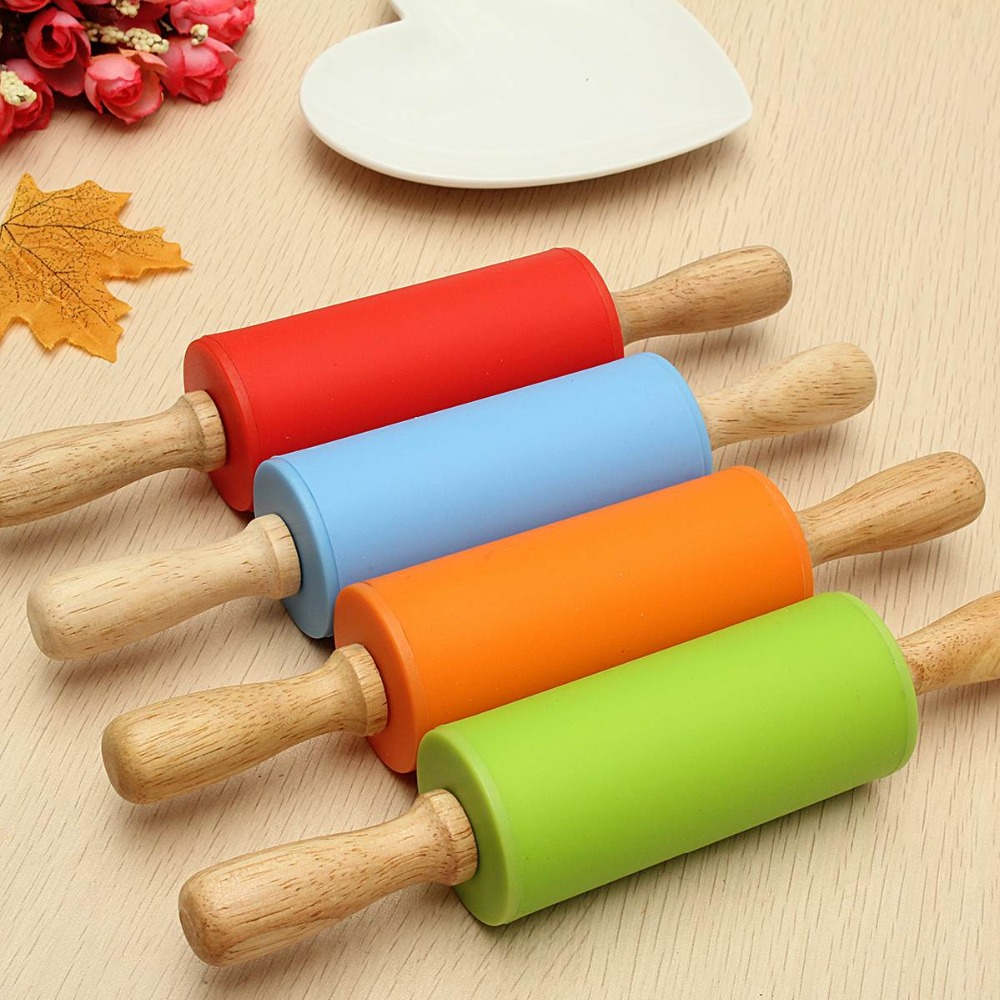 Rolling Pins SILICONE /wood, 23X4S dough baking dish baking counter knife frying pan mug ...