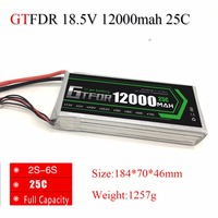 GTFDR RC Lipo Battery 12000mAh 18.5V 5S 25C max50C For RC Helicopter Drone FPV UAV Car Boat Multicopter 6 xis Quadcopter