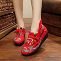 2016 New Pattern Originality Design Flange Old Beijing Nation Wind Embroidered Women's Singles Dance Shoe Chinese Style Wedges