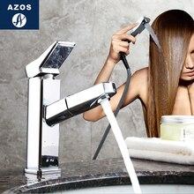 Modern Bathroom Faucet Pull Out Shower Head Nozzle Single Handle Swivel Spout Vessel Sink Mixer Tap Chrome Polish CLMP022Z