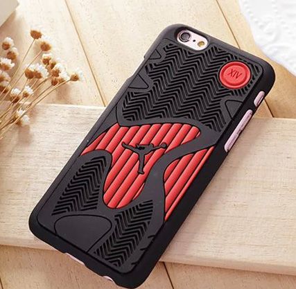 Basketball Michael Jordan 14 10 Shoe Sole Rubber Cell Phone For iPhone 6 6s 7 8 plus Men Sport Case Cover AJ 14 For iPhone X