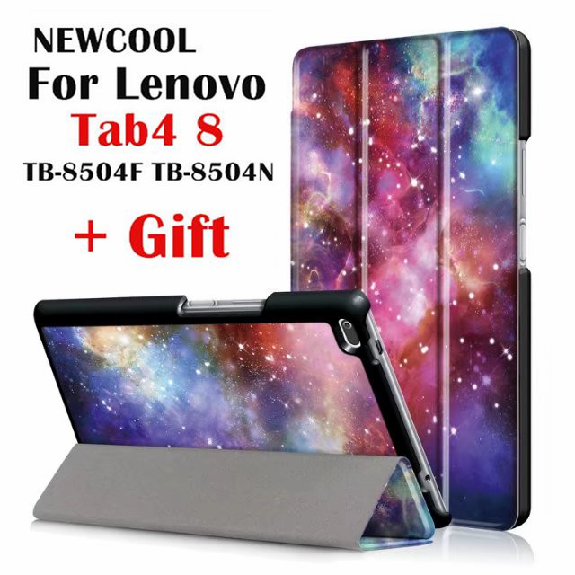 Case For Lenovo Tab 4 8, TB-8504x Leather case smart Cover for Lenovo TAB4 8 TB-8504F TB-8504N TB-8504 tablet case Flip Cover цена