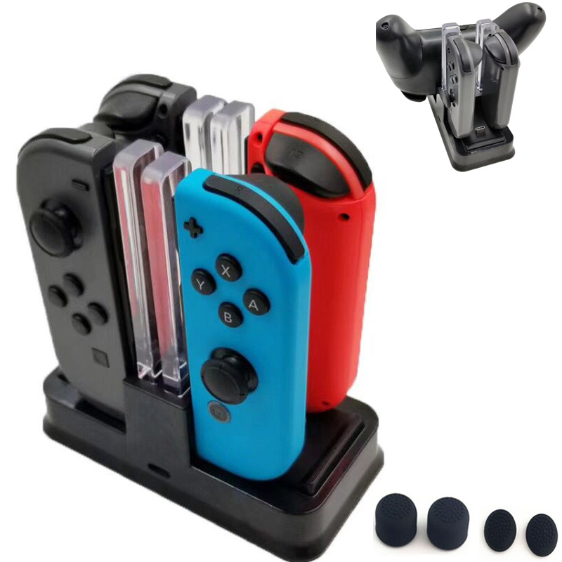 Nintend Swith Pro Controller Charger Stand and Nintend Switch Joycon Charging Dock Station With LED Light For Nintendos Switch