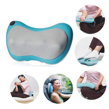Free shipping Home car dual-use multifunction dish massager car massage pillow cervical lumbar leg massager 3 colors good gift