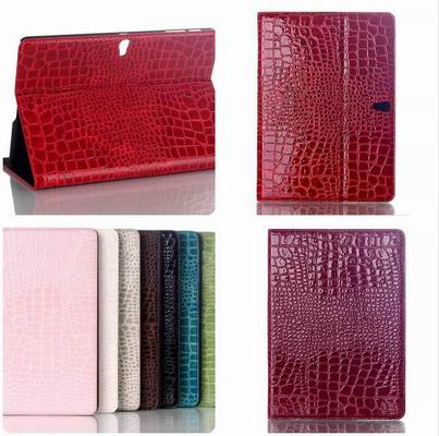 Fashion Crocodile Leather Cover Case for Samsung Galaxy Tab S T800 T805 10.5 Tablet PU Leather Case Stand for Samsung T800