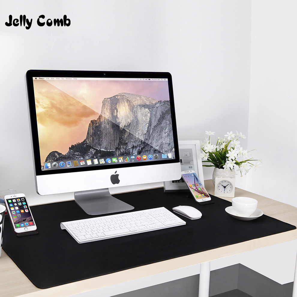 Jelly Comb Large Mouse Pad Non-slip Rubber Desktop Mouse Pad for Computer PC Laptop LOL WOW Cambol Gaming Mouse Desk Mat Black rubber mouse pad mat black
