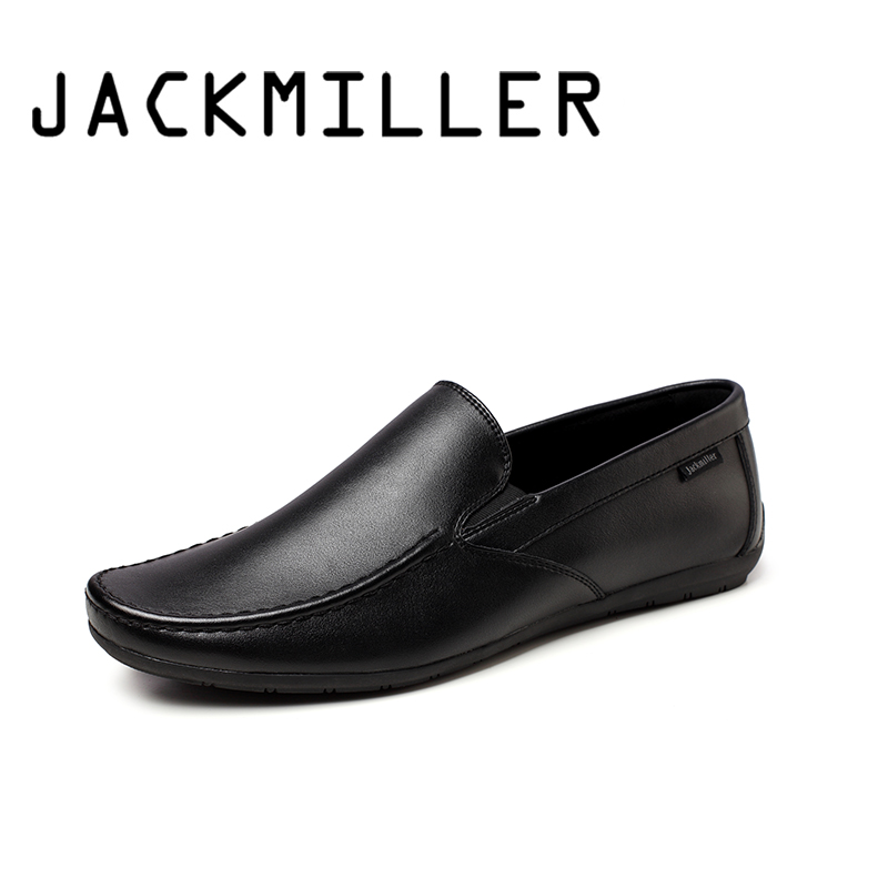 Jackmiller Top Brand New Arrival Men Casual Shoes Flexible Soft Comfortable Men Shoes Slip On Loafers