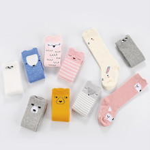 AJLONGER Cartoon Cute Kids Cotton Socks Animal Baby Knee High Long LegWarmers Boy Girl Children socks