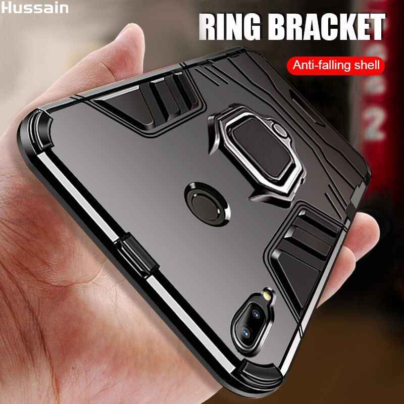 Hussain Magneet Metalen Ring Case Voor Xiao mi rode Mi note 7 Mi 8 lite case magnetische Shockproof Soft Telefoon case Voor Xiao mi re Mi note 7