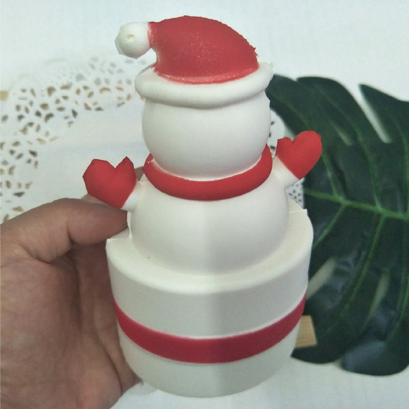 Squishy Squeeze Stress Reliever Cute Snowman Cream Cake Scented Slow Rising Toy enlarge