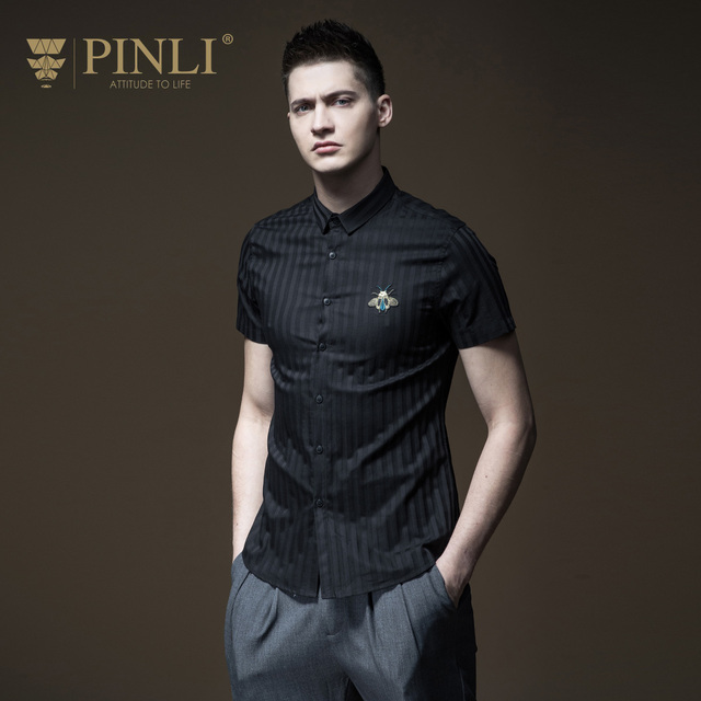 48699fc1e56 Blusas Camiseta Masculina Pinli 2018 Summer New Men s Suit