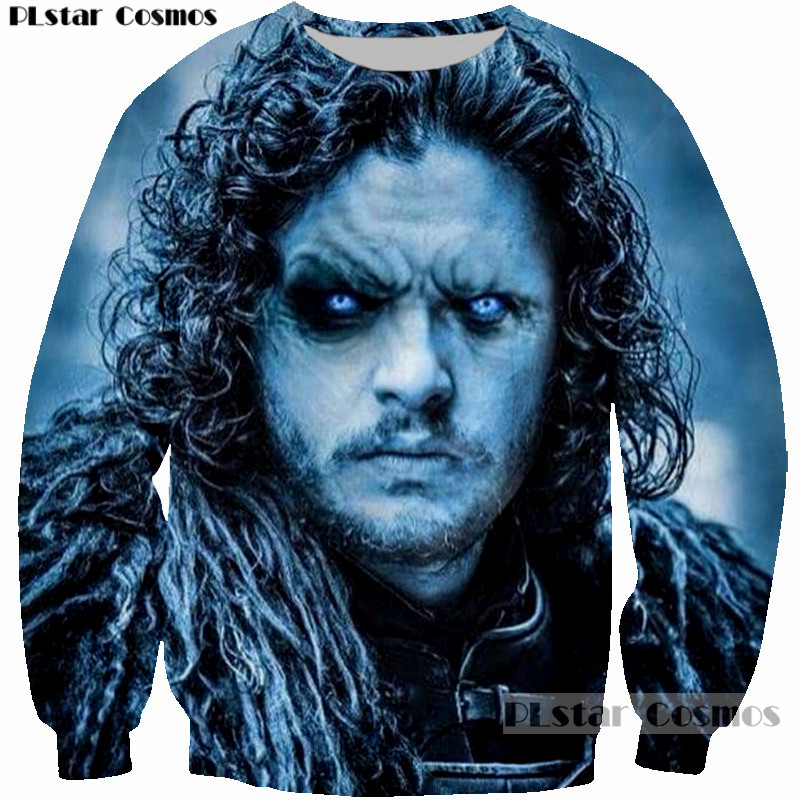 PLstar Cosmos Cool Punk Hip hop Design Game of Thrones Jon Snow 3D Printed Sweatshirt Women/Men Pullovers hoodies Outerwear tops