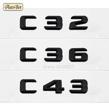 For Mercedes Benz C32 C36 C43 AMG 190E W201 W202 W203 W204 W211 W210 W212 W205 Trunk Rear Letters Word Badge Emblem Letter Decal