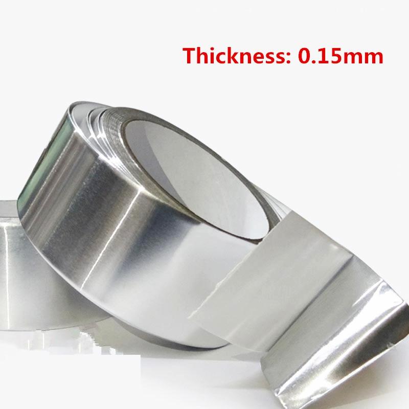 Aluminum Foil Tape 20m* 0.15mm Aluminum Adhesive Tape High Temperature Tape Sealed waterproof shield signal free shipping tape aluminum foil tape adhesives sealer household hardware 3cm width