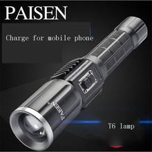 10W USB Rechargeable Powerful Zoomable Waterproof LED Cree T6 Flashlight Multi-function Flashlight Torch For Bicycle
