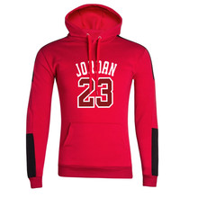 2019 new brand mens hoodie long-sleeved hooded sports print black red large gray