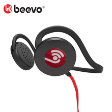 Stereo Sport Headphones Neckband Hook Running Headset with MIC Beevo HM720 Noise Reduction 3.5mm for Smart Phones Music Player