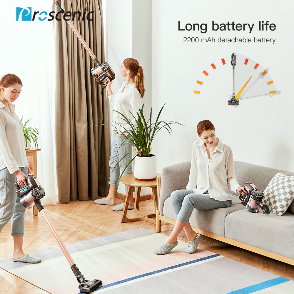 Proscenic P8 PLUS Protable 2 In 1 Handheld Wireless Cordless Vacuum Cleaner Cyclone 15000Pa Strong Suction Dust Collector