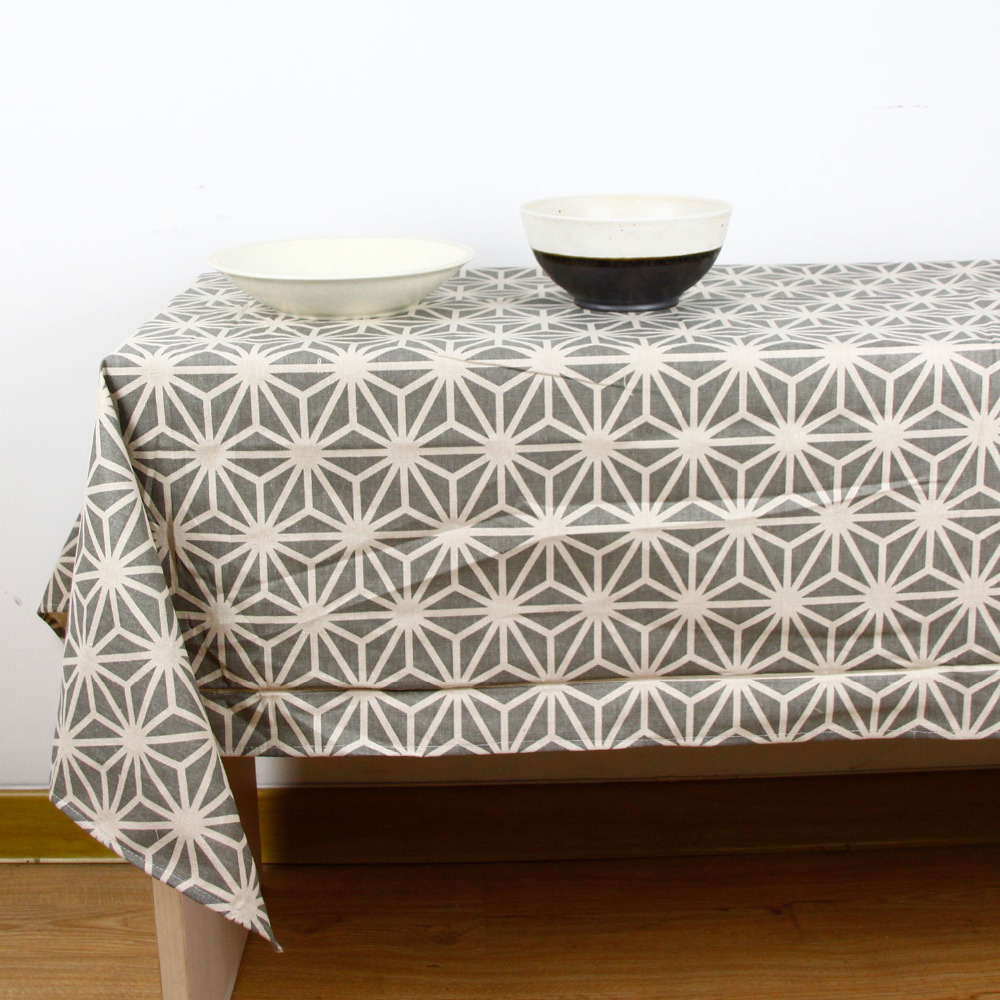 Perfect Fashion Geomery Print High Quality Tablecloth For Dinner Linen Cloth  Bohemia Style Decorative Cotton Linen Table