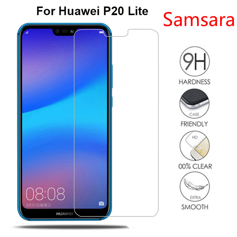 Huawei P20 Lite Glass Tempered For Huawei P20 Lite Screen Protector 5.84 inch Transparent Protective Glass For Huawei P20 Lite