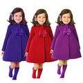 Nova Bonito Dos Miúdos Meninas Roupas Casaco de Lã Casaco Outerwear Inverno Quente