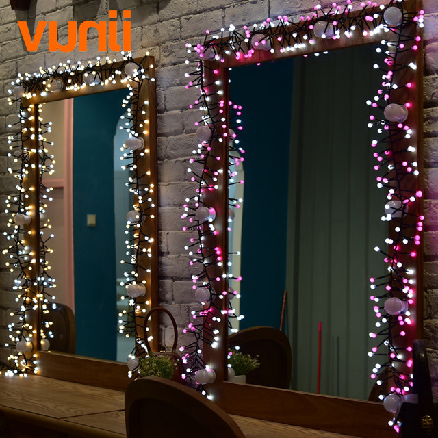 Novelty! 8M 400 LED UL Adapter LED String Lights For Xmas Garland Cafe  Party Wedding