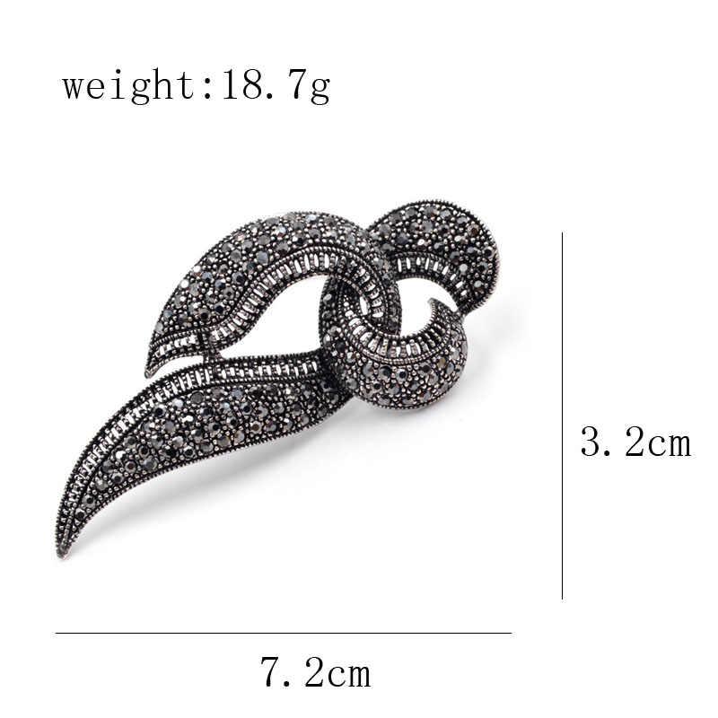Cindy Xiang Baru Hitam Berlian Imitasi Geometris Bros untuk Wanita Vintage Fashion Perhiasan Indah Bros Elegan Bros