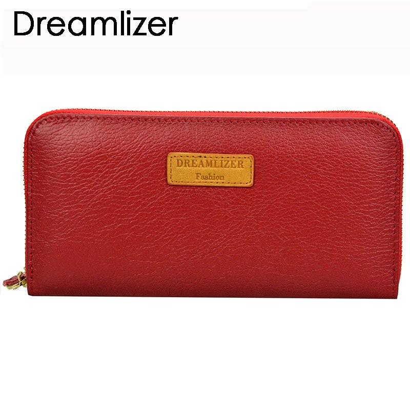 Dreamlizer RFID Blocking Zipper Around Women Leather Wallet