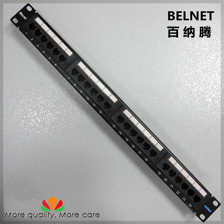 все цены на Gold-plated CAT5e UTP network patch panel Engineering Grade Distribution frame 24 Port 1U rack cabinet cable management онлайн