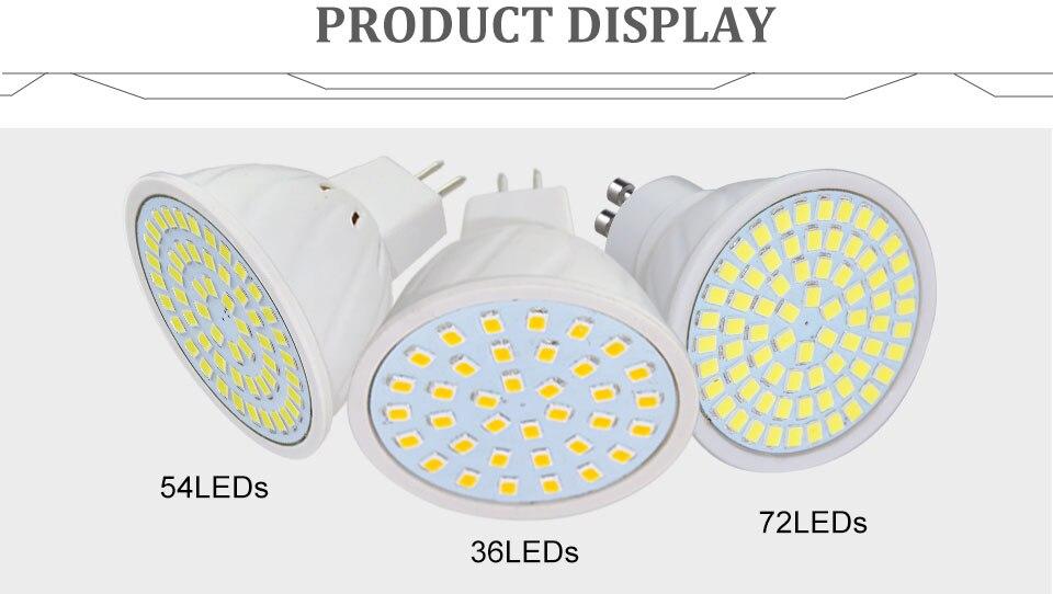 GU5.3 GU10 MR16 220V Lampada LED Spotlight 4W 5W 6W 7W 8W LED Lamp Light LED Bulb Table Downlight Ceiling Light Warm White Lamp (18)