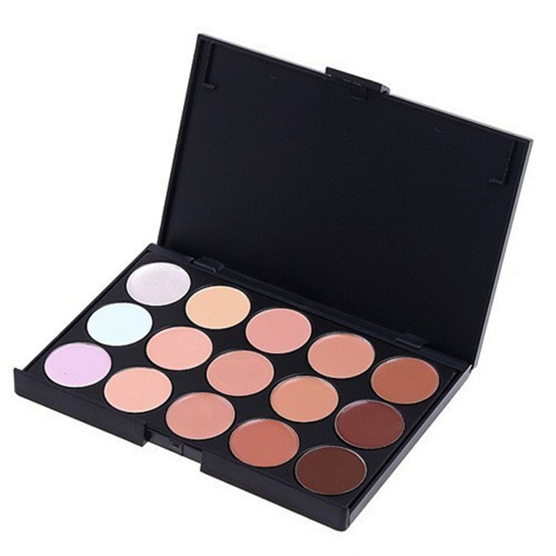 New 2016 Professional Concealer Neutral Palette 15 colors makeup tools facial care eye scar cream concealer
