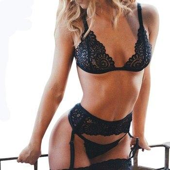 Γυναικεία Sexy Εσώρουχα 3pcs Γυναικεία Εσώρουχα Ρούχα MSOW