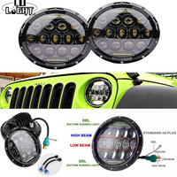 CO LIGHT 7 Inch Round Led Headlight 75W Auto Driving Light High Low Beam For Lada