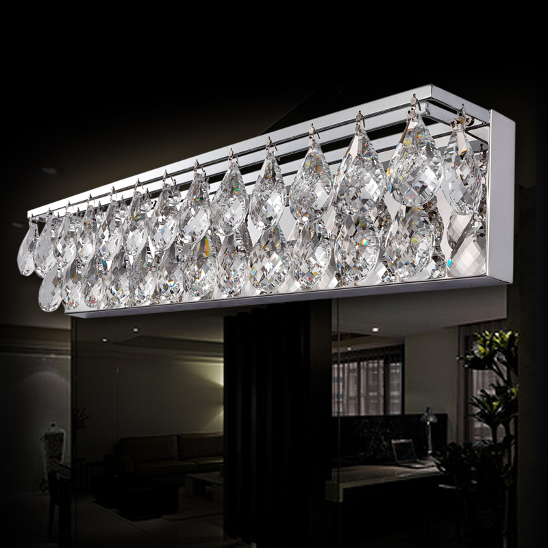 Crystal bathroom sconce lighting my web value aliexpress buy sconce light wall light crystal k9 modern bathroom mirror front light aloadofball Images